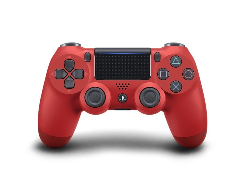 Dualshock 4 Wireless PS4 Controll v2 - Magma Red in the group Console / Playstation / PS4 Accessories / Controller at MaxGaming (10023)