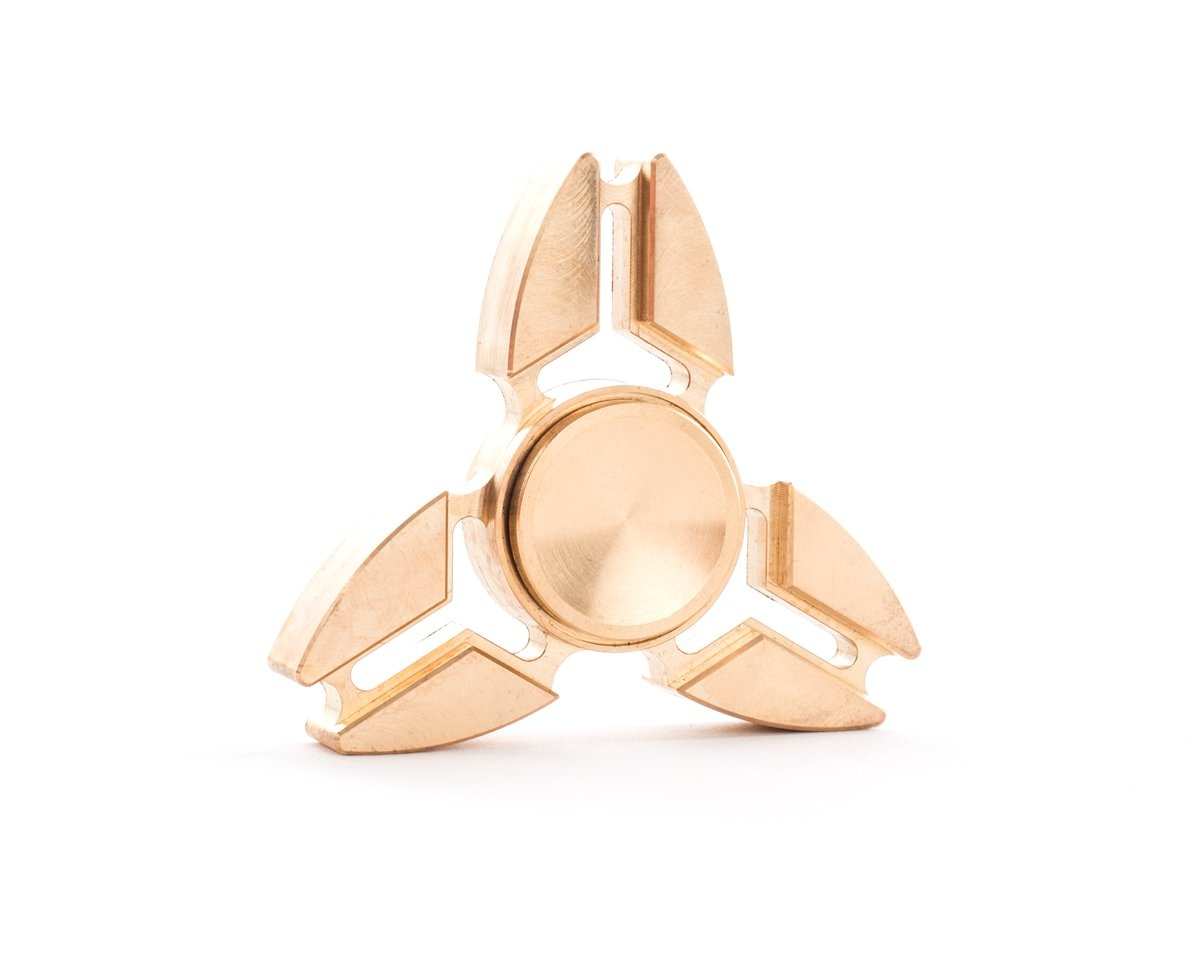 Fidget Tri Spinner Copper - Premium in the group Home & Leisure / Fidget spinner at MaxGaming (10610)