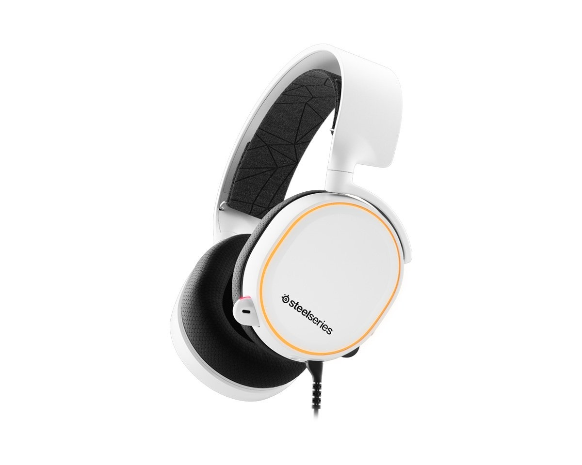 Arctis 5 Gaming Headset White - 2019 Edition in the group Console / Playstation / PS4 Accessories / Headsets at MaxGaming (12753)