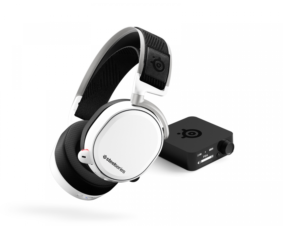 Buy Steelseries Arctis Pro Wireless Gaming Headset White At Maxgaming Com
