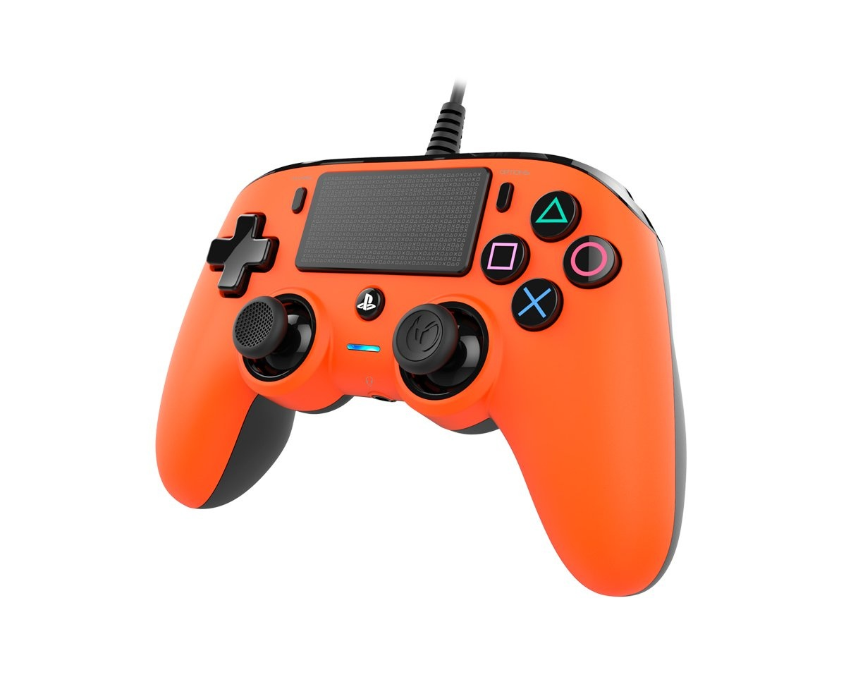 Wired Compact Controller Orange (PS4/PC) in the group Console / Playstation / PS4 Accessories / Controller at MaxGaming (15273)