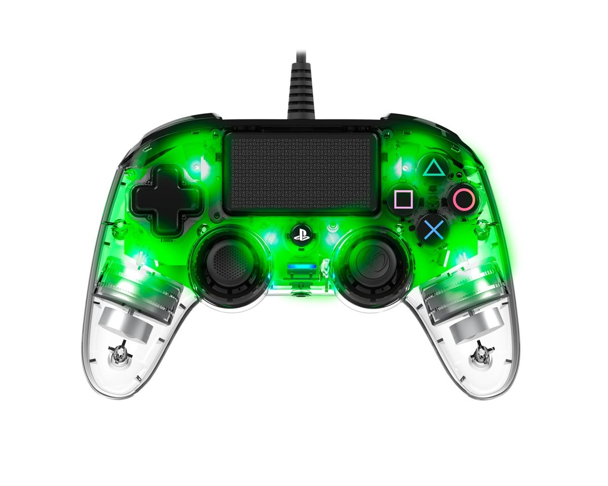 Wired llluminated Compact Controller Green (PS4/PC) in the group Console / Playstation / PS4 Accessories / Controller at MaxGaming (15340)