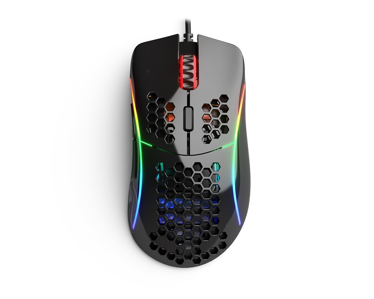 Model D Gaming Mouse Glossy Black in the group PC Peripherals / Mice & Accessories / Gaming mice / Wired at MaxGaming (15579)