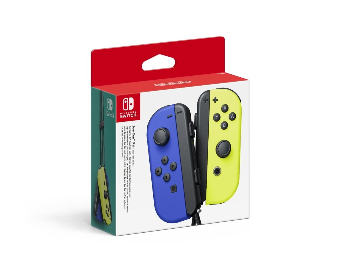 Joy-Con Pair Blue/Yellow in the group Console / Nintendo / Accessories / Controller at MaxGaming (16400)