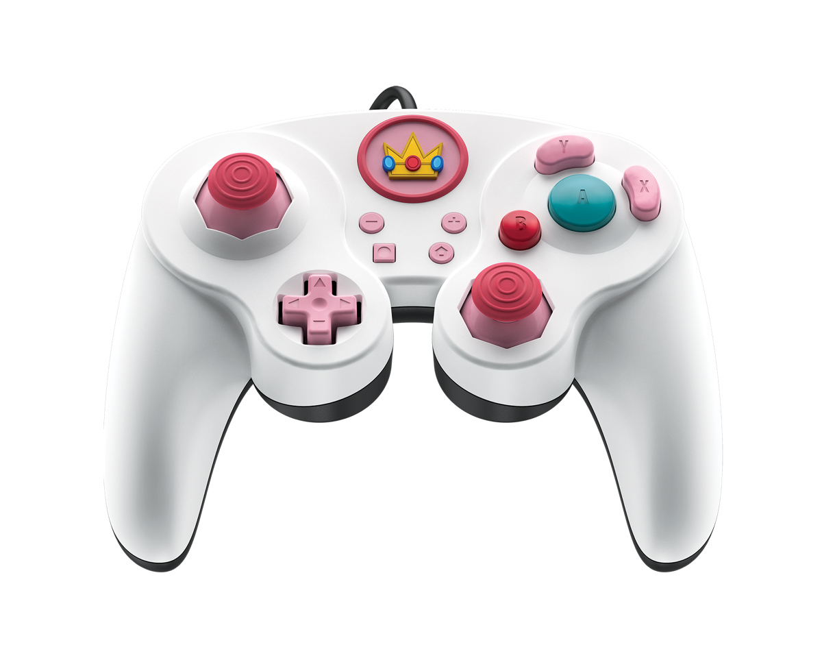 Peach Fight Pad Pro Nintendo Switch Controller - White in the group Console / Nintendo / Accessories / Controller at MaxGaming (16660)