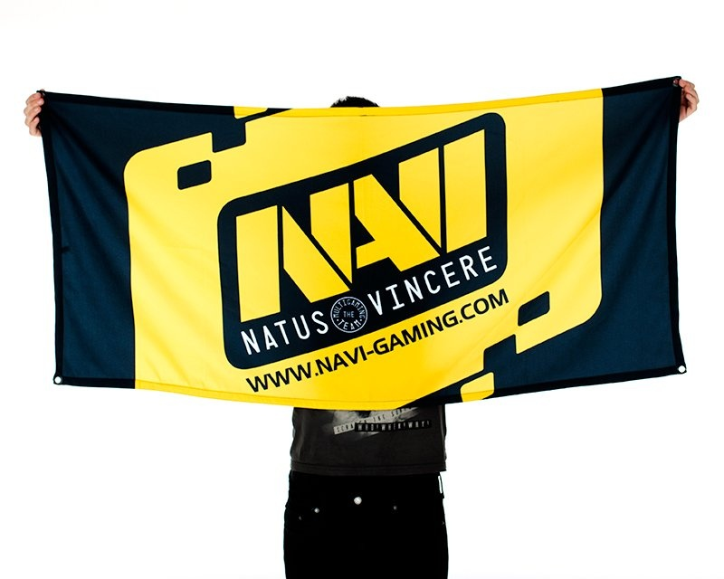Team Flag - Black/Yellow in the group Clothing / Team store / Natus Vincere at MaxGaming (7270)