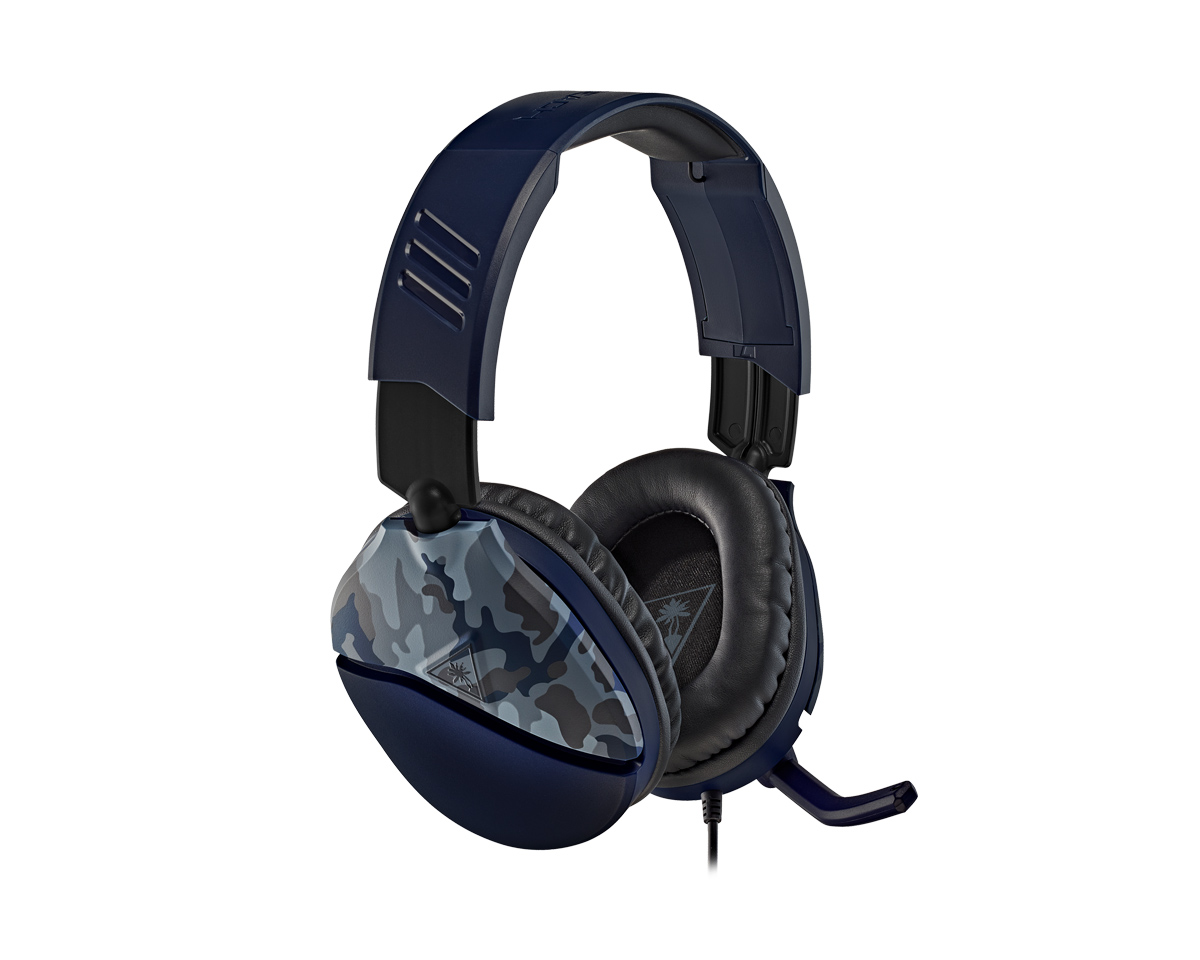 Buy Turtle Beach Recon 70 Gaming Headset Blue Camo Ps4 Xbox One Pc Switch At Maxgaming Com