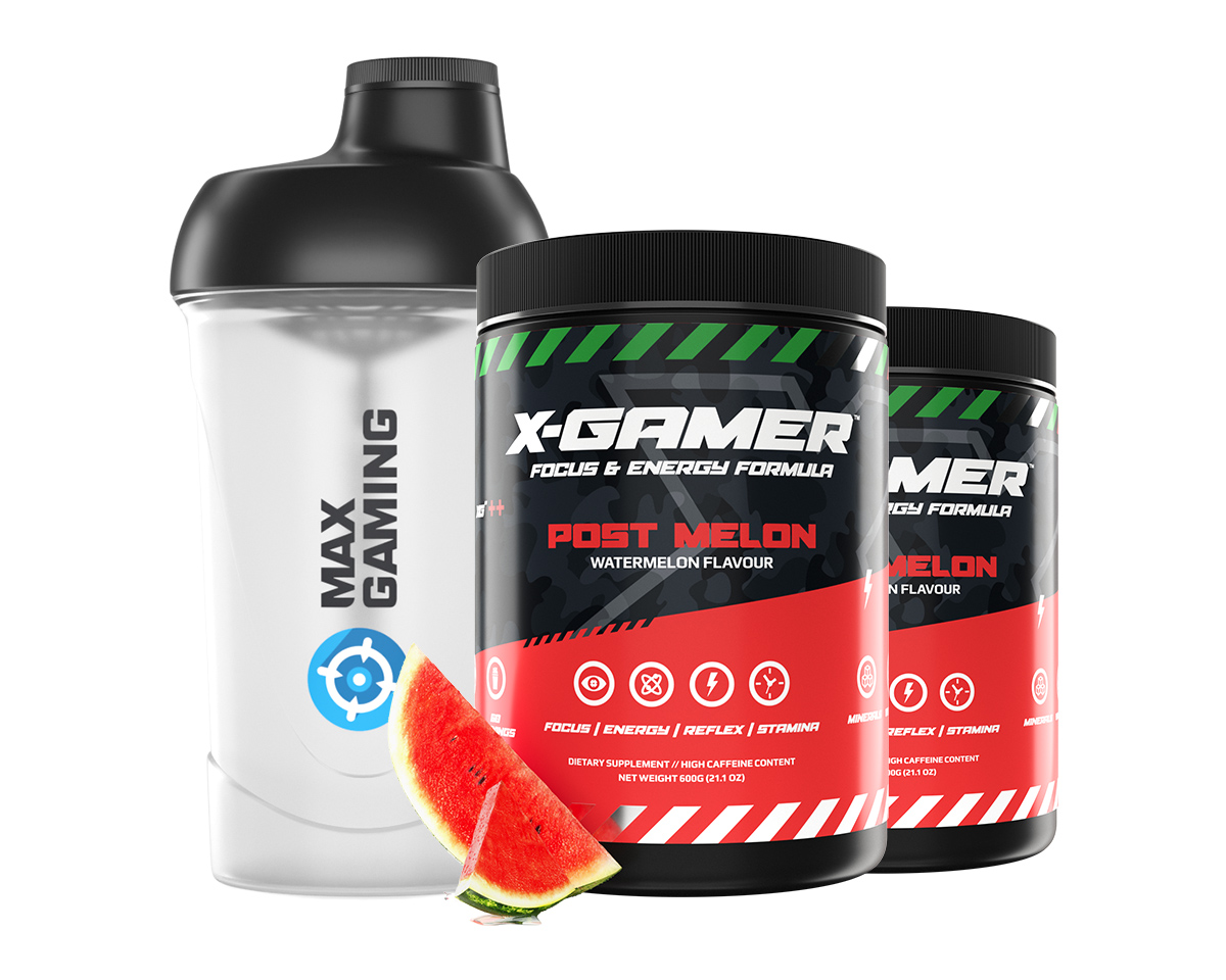2 x 600g X-Tubz Post Melon - 60 Servings + Shaker in the group Home & Leisure / Drinks & Energy at MaxGaming (S1008)
