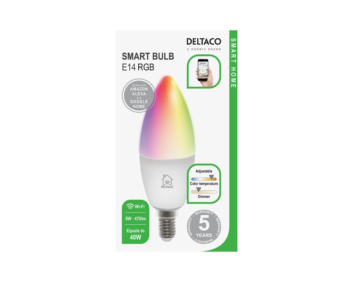 Deltaco Smart Home LED lampa, E14 | Teknikdelar.se