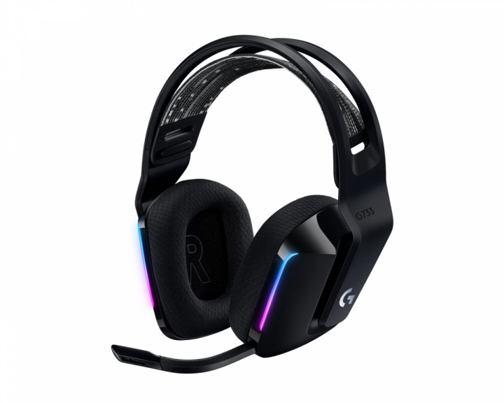 G733 Lightspeed Wireless Headset - Black in the group PC Peripherals / Headsets & Audio / Gaming headset / Wireless at MaxGaming (1001026)