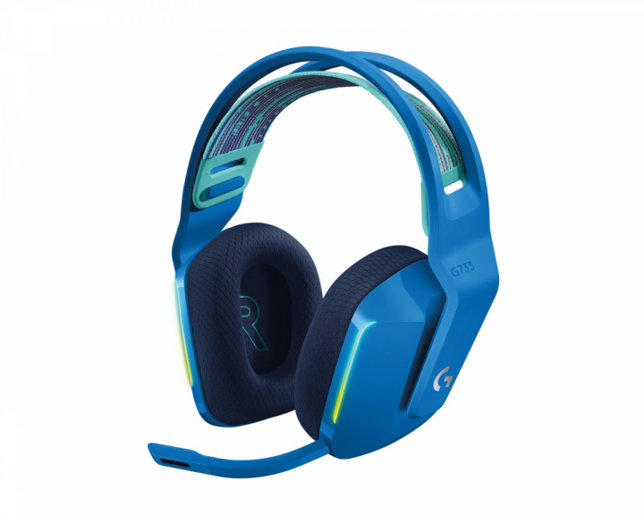G733 Lightspeed Wireless Headset - Blue in the group PC Peripherals / Headsets & Audio / Gaming headset / Wireless at MaxGaming (1001028)