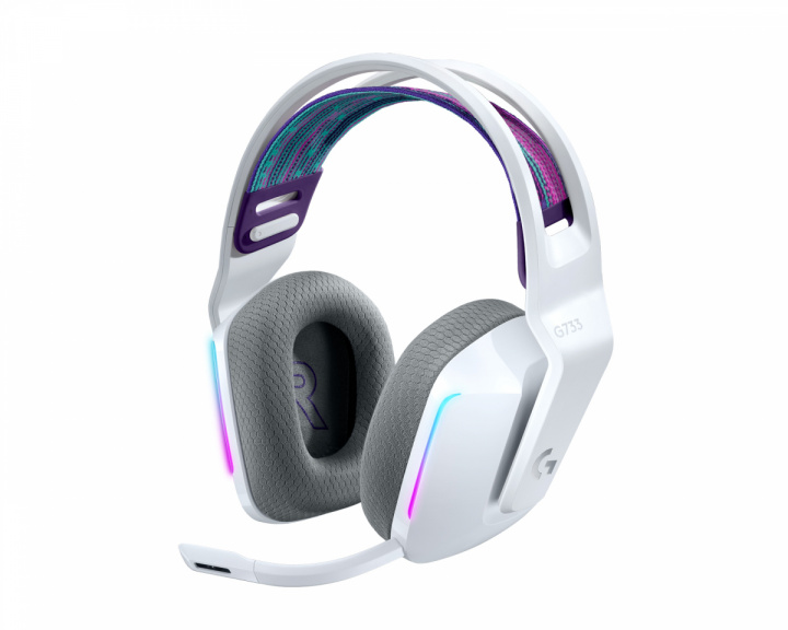 G733 Lightspeed Wireless Headset - White in the group PC Peripherals / Headsets & Audio / Gaming headset / Wireless at MaxGaming (1001029)