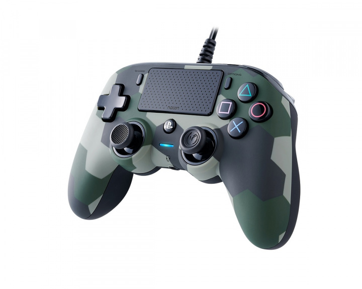Wired Compact Controller Cammo Green (PS4/PC) in the group PC Peripherals / Game controllers / Gamepads at MaxGaming (1001036)