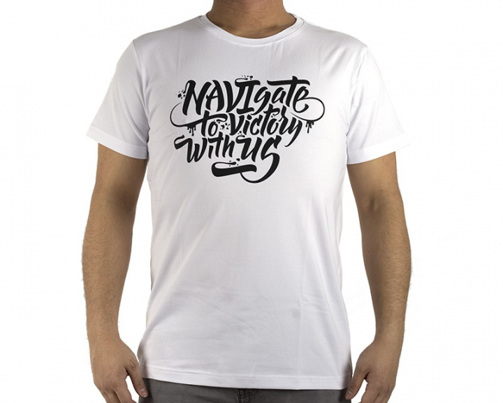 T-shirt NAVIgate 2017 - White in the group Clothing / Team store / Natus Vincere at MaxGaming (10123)