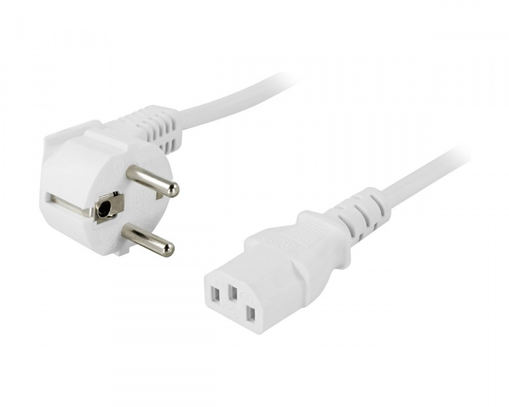 Power cable 1m White in the group PC Peripherals / Cables & adapters / Power cables at MaxGaming (12293)