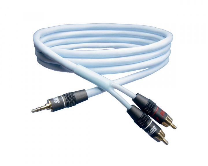 Biline Audio Cable 3,5 mm to 2x RCA - 1 meter in the group PC Peripherals / Cables & adapters / Audio cables at MaxGaming (13127)