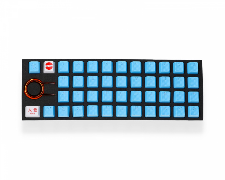 42-Key Rubber Double-shot Backlit Keycap Set - Neon Blue in the group PC Peripherals / Keyboard Accessories / Keycaps at MaxGaming (133)