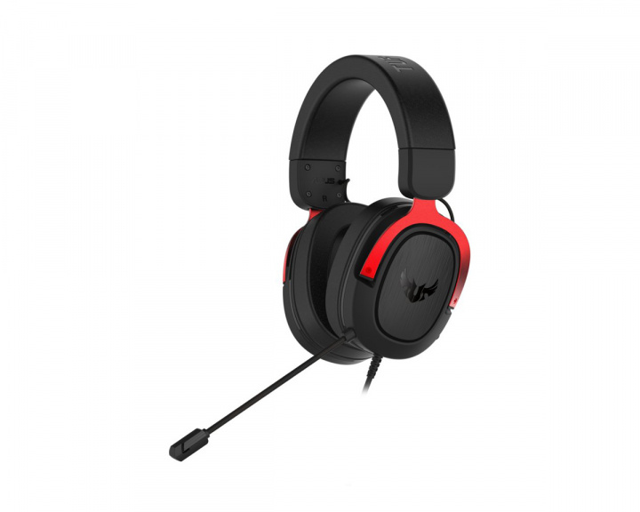 TUF H3 Gaming Headset Red in the group PC Peripherals / Headsets & Audio / Gaming headset / Wired at MaxGaming (16669)