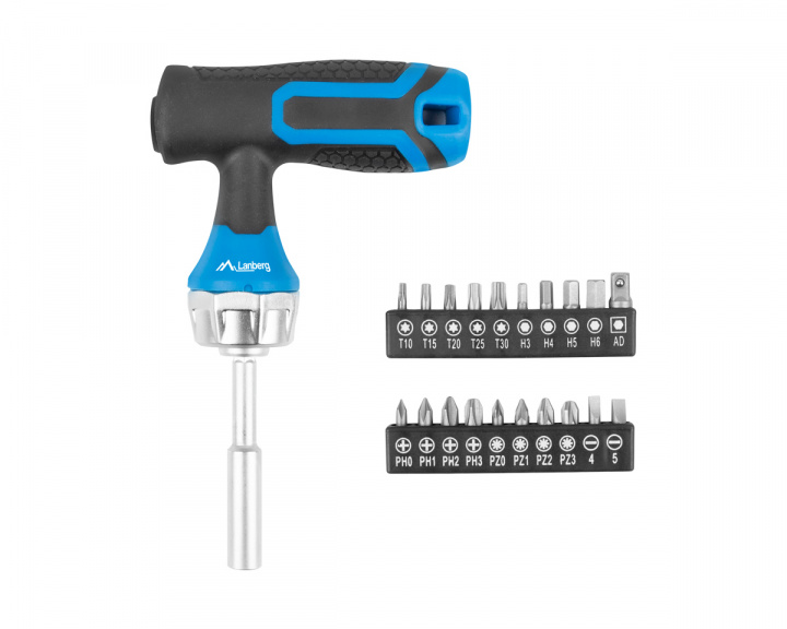 Type T Screwdriver + 20 Sockets in the group PC Peripherals / Computer components / Tools at MaxGaming (17205)