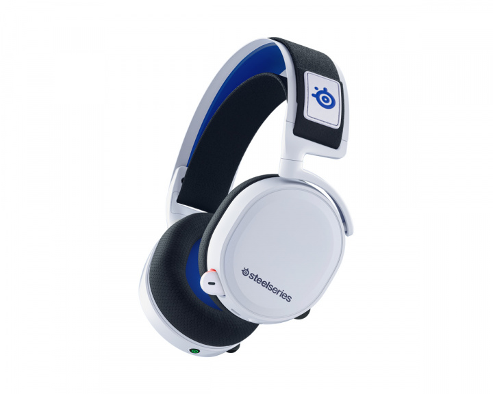 Arctis 7P Wireless Gaming Headset White/Blue (PS5/PS4/PC) in the group Console / Playstation / PS5 Accessories / Headsets at MaxGaming (17333)