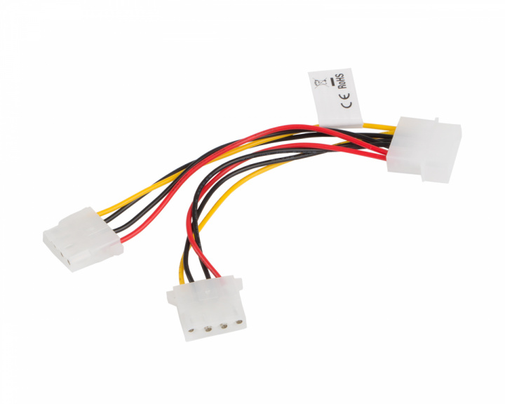 Molex (Male/Female) 4 Pin to 2X 4 Pin PSU Cable 15cm in the group PC Peripherals / Computer components / Internal cables at MaxGaming (17738)