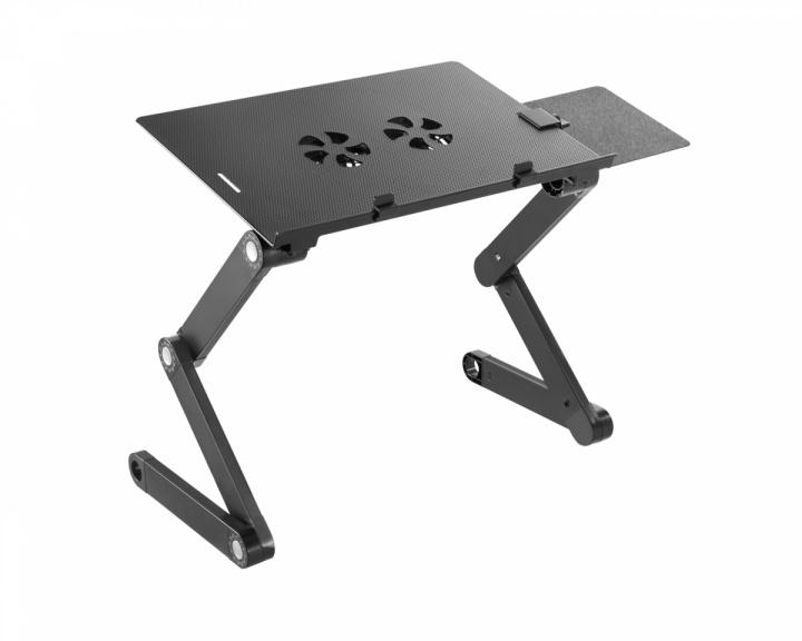 Height Adjustable Ventilated Laptop Desk with Mouse Pad Side Mount in the group Laptop stand at MaxGaming (18486)