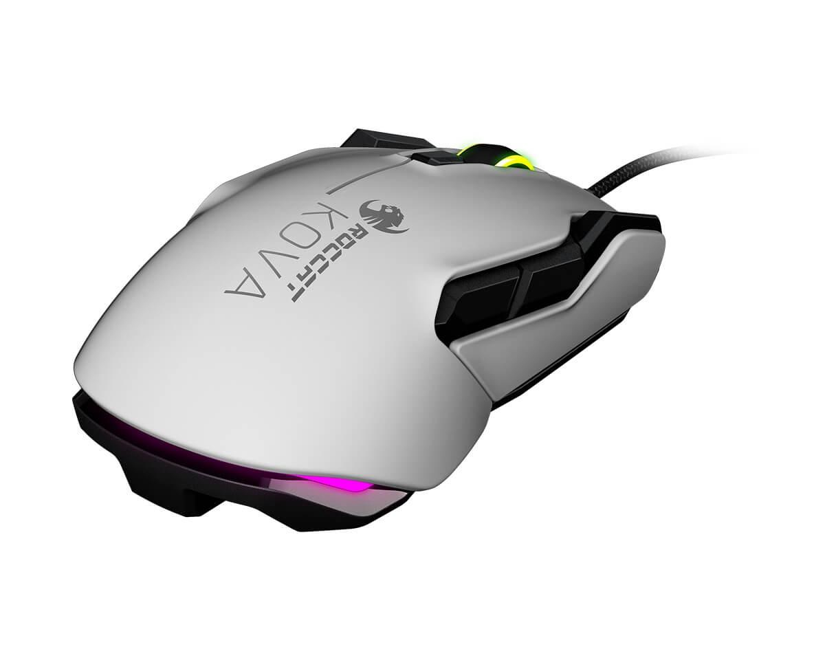 Buy Roccat Kova AIMO Gaming Mouse White at MaxGaming.com